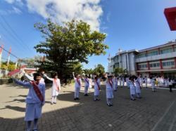 SMK SMAK Makassar mengisi peringatan HUT RI ke 74 tahun dengan kemeriahan