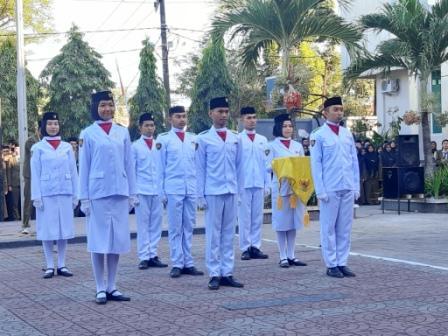 Kemeriahan peringatan hari kemerdekaan RI ke-74 tahun di SMK SMAK Makassar