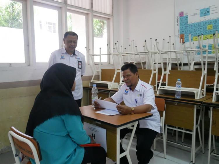 Rangkaian kegiatan pendaftaran ulang calon siswa baru th. ajaran 2019/2020