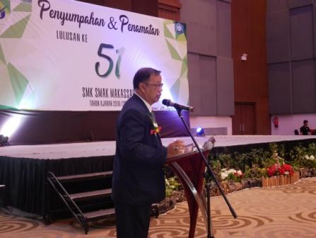 Wisuda lulusan angkatan 51 SMK SMAK Makassar tahun ajaran 2018/2019